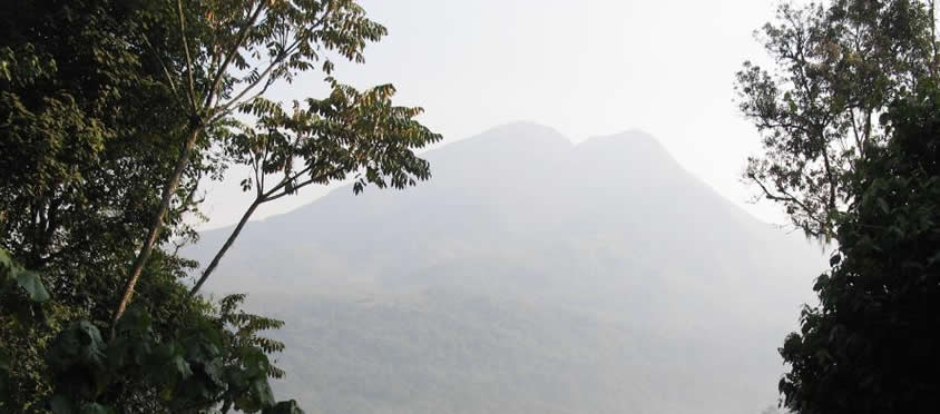 Mount Kahuzi in congo
