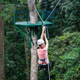 Zip Lining in Uganda at Mabira Forest